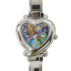 Circuit Computer Heart Italian Charm Watch