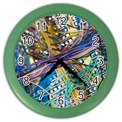 Circuit Computer Color Wall Clocks