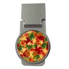 Autumn Leaves Money Clips (Round)