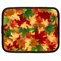 Autumn Leaves Netbook Case (Large)