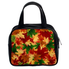 Autumn Leaves Classic Handbags (2 Sides)