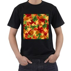 Autumn Leaves Men s T-Shirt (Black)