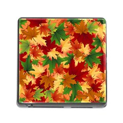 Autumn Leaves Memory Card Reader (Square)
