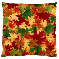 Autumn Leaves Large Flano Cushion Case (Two Sides)