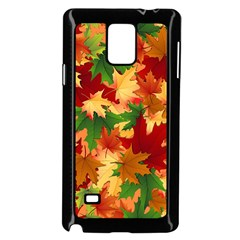 Autumn Leaves Samsung Galaxy Note 4 Case (Black)