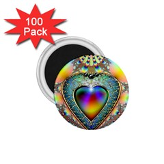 Rainbow Fractal 1.75  Magnets (100 pack)