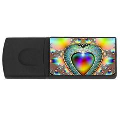 Rainbow Fractal USB Flash Drive Rectangular (1 GB)