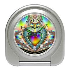 Rainbow Fractal Travel Alarm Clocks