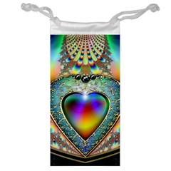 Rainbow Fractal Jewelry Bag
