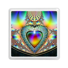 Rainbow Fractal Memory Card Reader (Square)