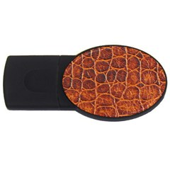 Crocodile Skin Texture USB Flash Drive Oval (2 GB)