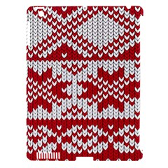 Crimson Knitting Pattern Background Vector Apple iPad 3/4 Hardshell Case (Compatible with Smart Cover)