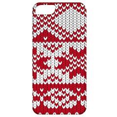 Crimson Knitting Pattern Background Vector Apple iPhone 5 Classic Hardshell Case