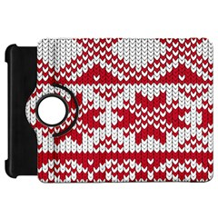 Crimson Knitting Pattern Background Vector Kindle Fire HD 7