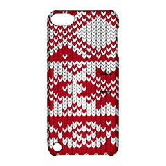 Crimson Knitting Pattern Background Vector Apple iPod Touch 5 Hardshell Case with Stand