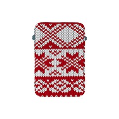 Crimson Knitting Pattern Background Vector Apple iPad Mini Protective Soft Cases