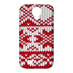 Crimson Knitting Pattern Background Vector Samsung Galaxy S4 Classic Hardshell Case (PC+Silicone)