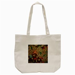 Art Traditional Flower Batik Pattern Tote Bag (Cream)
