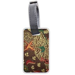 Art Traditional Flower Batik Pattern Luggage Tags (Two Sides)