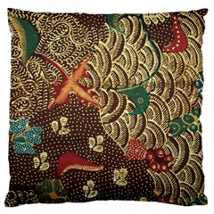 Art Traditional Flower Batik Pattern Large Cushion Case (Two Sides)