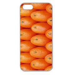 Orange Fruit Apple Seamless iPhone 5 Case (Clear)