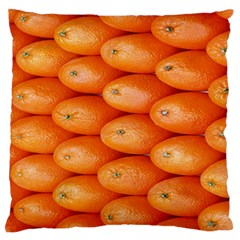 Orange Fruit Standard Flano Cushion Case (One Side)
