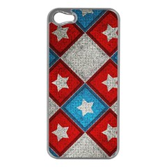 Star Color Apple iPhone 5 Case (Silver)