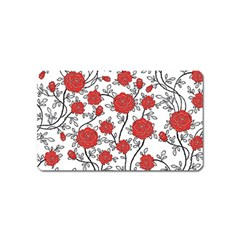 Texture Roses Flowers Magnet (Name Card)