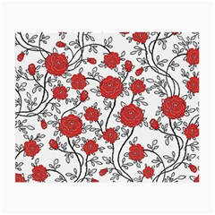 Texture Roses Flowers Small Glasses Cloth