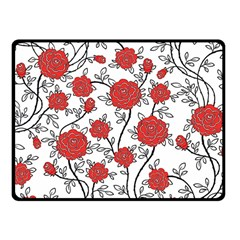 Texture Roses Flowers Fleece Blanket (Small)