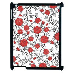 Texture Roses Flowers Apple iPad 2 Case (Black)