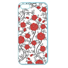 Texture Roses Flowers Apple Seamless iPhone 5 Case (Color)