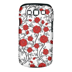 Texture Roses Flowers Samsung Galaxy S III Classic Hardshell Case (PC+Silicone)
