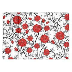 Texture Roses Flowers Samsung Galaxy Tab 10.1  P7500 Flip Case