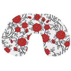 Texture Roses Flowers Travel Neck Pillows