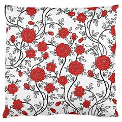 Texture Roses Flowers Large Flano Cushion Case (One Side)