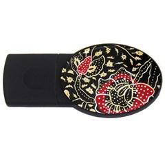 Art Batik Pattern USB Flash Drive Oval (4 GB)