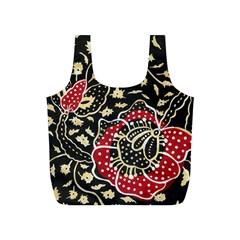 Art Batik Pattern Full Print Recycle Bags (S)