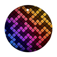 Abstract Small Block Pattern Ornament (Round)