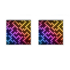 Abstract Small Block Pattern Cufflinks (Square)