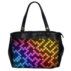 Abstract Small Block Pattern Office Handbags (2 Sides)