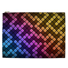 Abstract Small Block Pattern Cosmetic Bag (XXL)