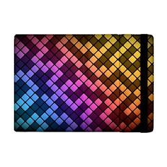 Abstract Small Block Pattern Apple iPad Mini Flip Case