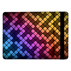 Abstract Small Block Pattern Samsung Galaxy Tab Pro 12.2  Flip Case