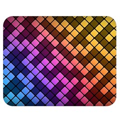 Abstract Small Block Pattern Double Sided Flano Blanket (Medium)