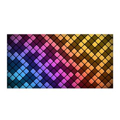 Abstract Small Block Pattern Satin Wrap