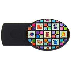 Animal Party Pattern USB Flash Drive Oval (2 GB)