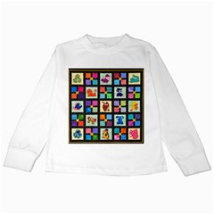 Animal Party Pattern Kids Long Sleeve T-Shirts