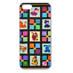 Animal Party Pattern Apple Seamless iPhone 5 Case (Clear)