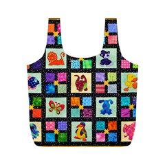 Animal Party Pattern Full Print Recycle Bags (M)